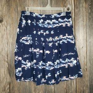 Old Navy Blue Sailboat Boho Pleated Skirt